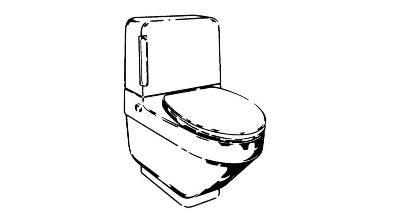 Náčrt prvého sprchovacieho WC Geberit, Geberit-o-Mat