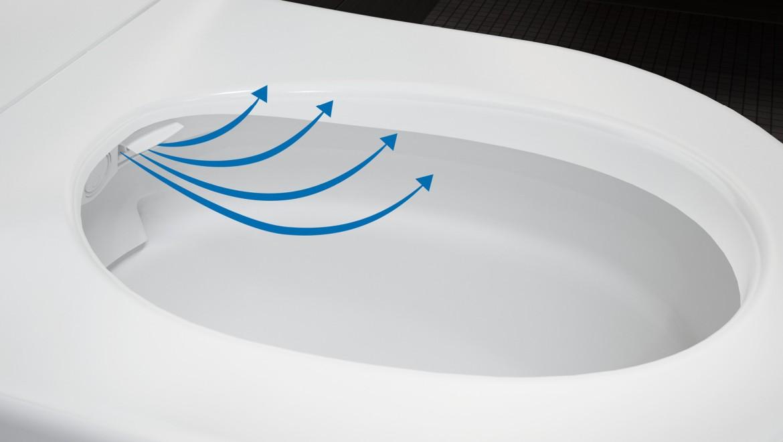 Funzione asciugatore ad aria calda del vaso bidet Geberit AquaClean Mera Comfort