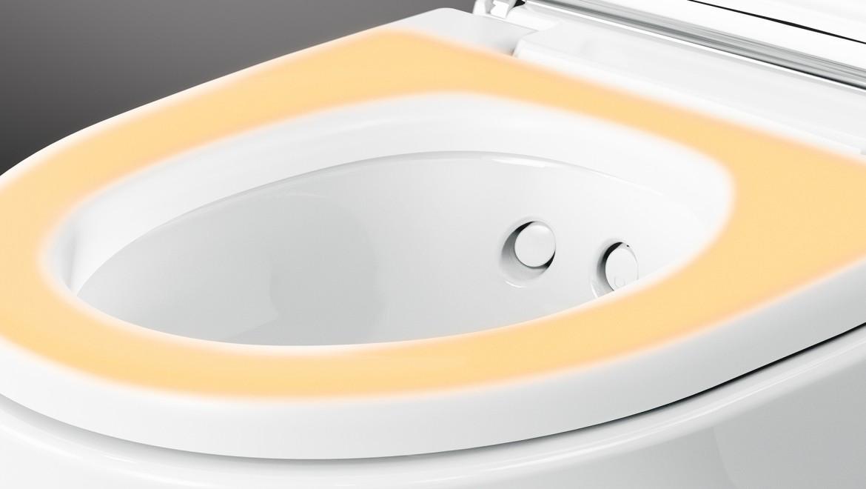 WC seat ring heating on the Geberit AquaClean Mera Comfort shower toilet
