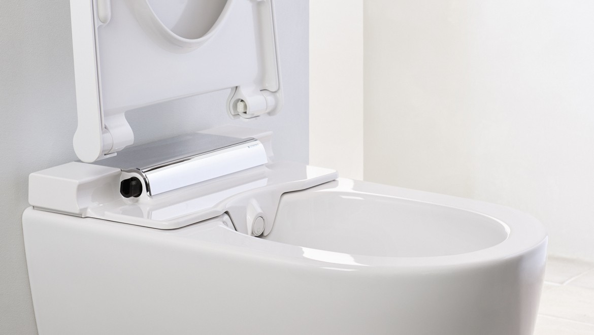 Quick release on the AquaClean Mera shower toilet