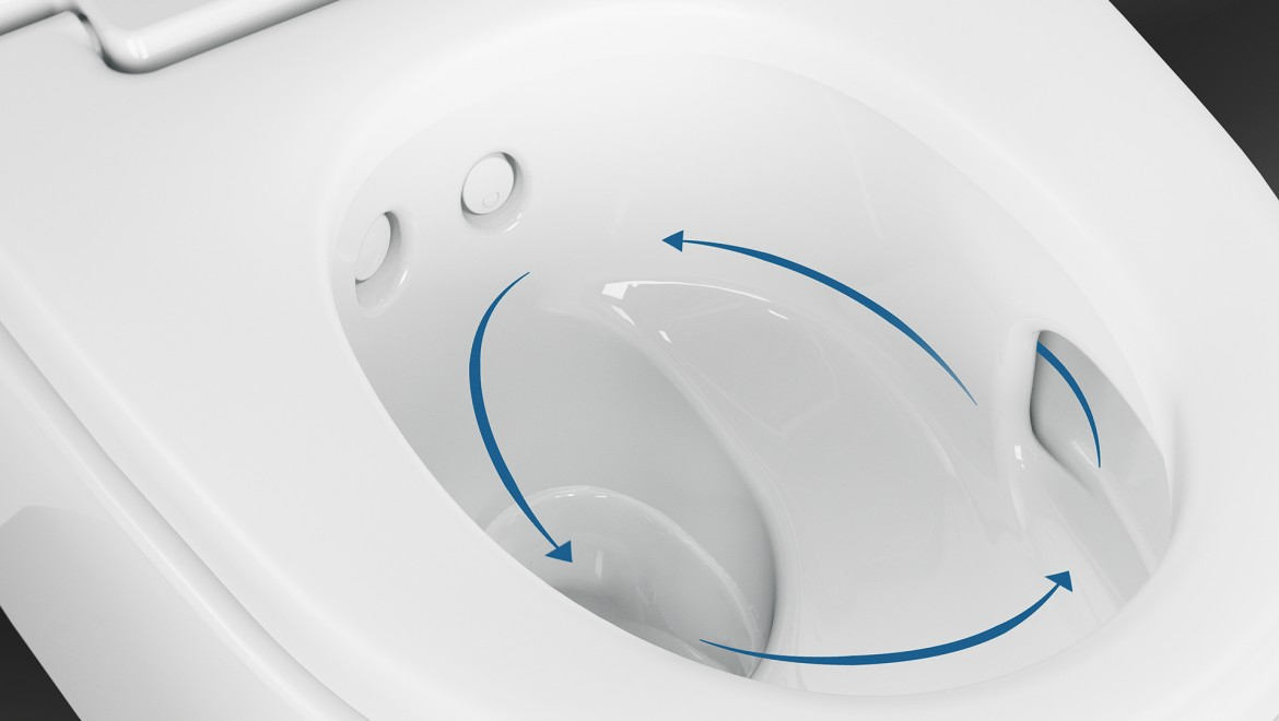 The odour extraction unit on the Geberit AquaClean Mera Comfort shower toilet