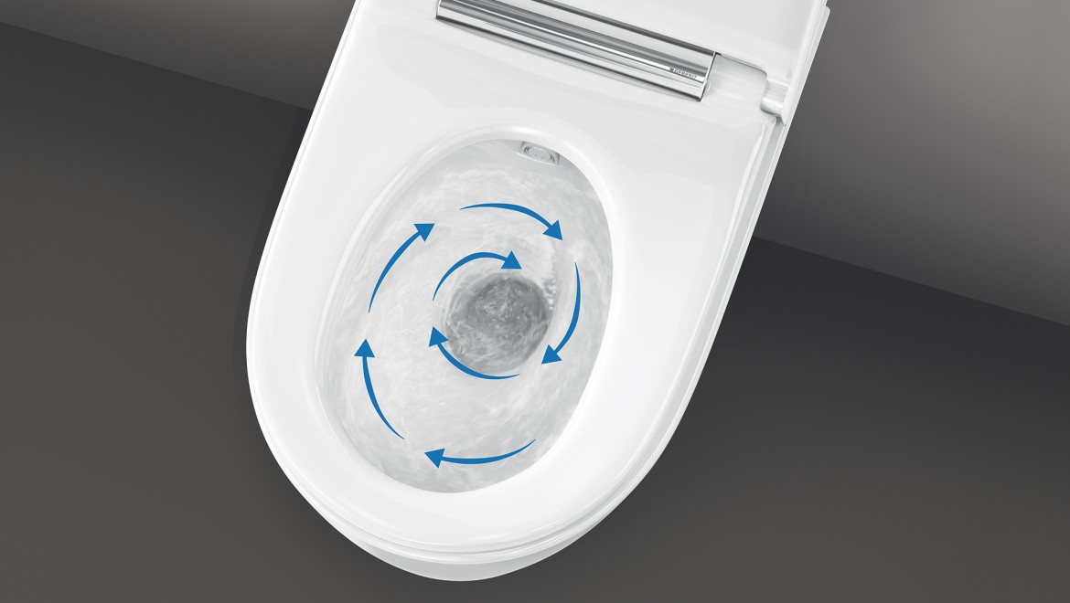 Geberit AquaClean douchetoilet med TurboFlush