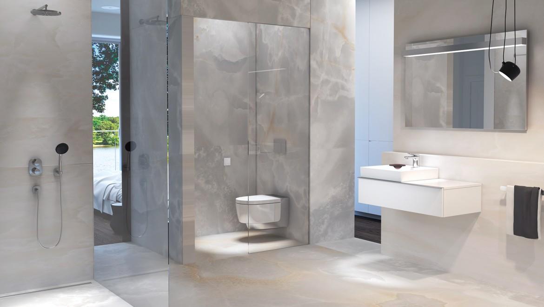 Geberit AquaClean Mera Comfort in einem hellen Badezimmer