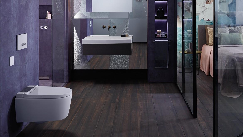 Hotelbadkamer met een AquaClean Sela douchewc