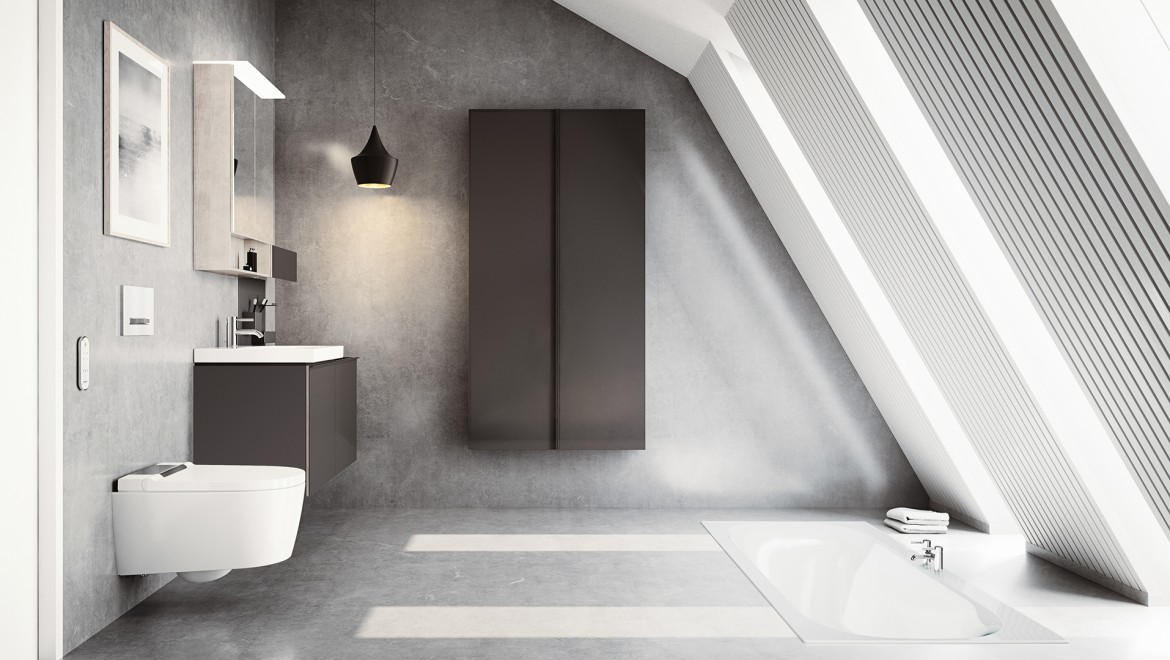 Geberit AquaClean Sela in bathroom