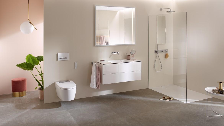 Geberit AquaClean Dusch-WC Sela in einem Badezimmer