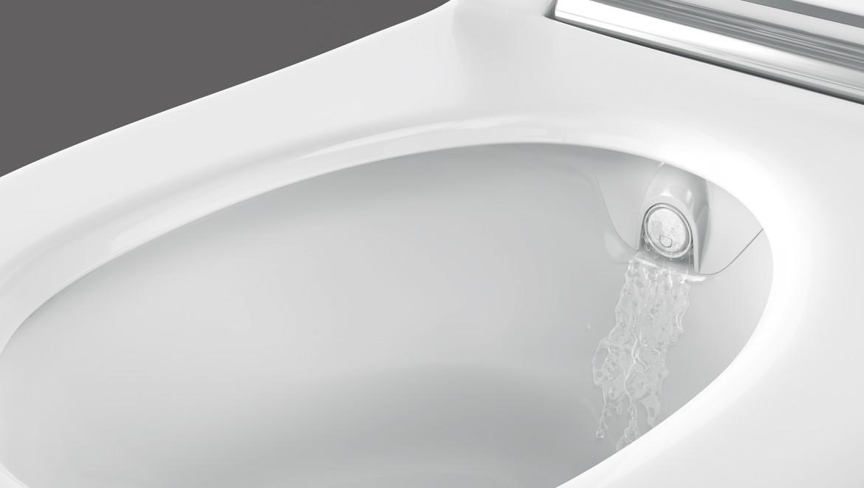 Nettoyage automatique du bras de douchette, Geberit AquaClean Sela