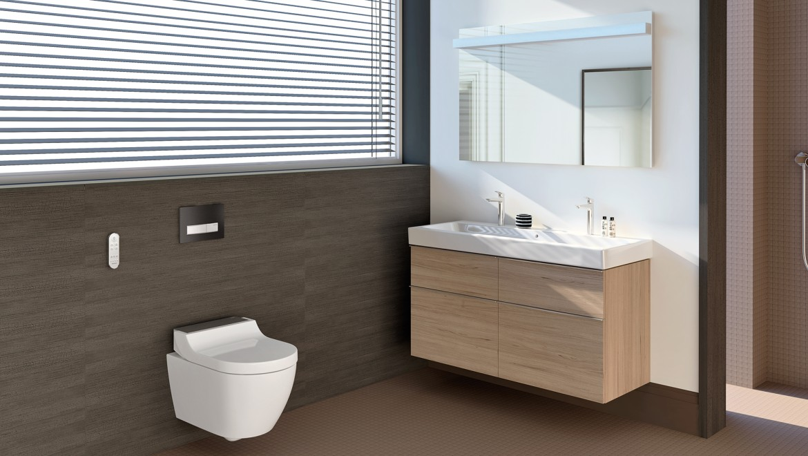 Geberit AquaClean Tuma Comfort in bathroom