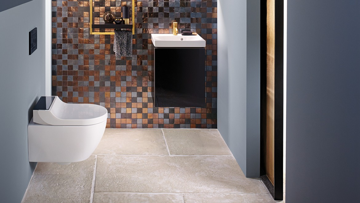 Geberit AquaClean Tuma Comfort & Acanto Series in bathroom