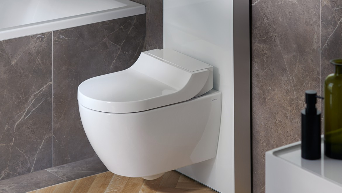AquaClean Tuma shower toilet with Geberit Monolith