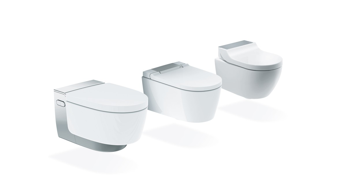 Shower toilet models Mera, Sela and Tuma in the overview
