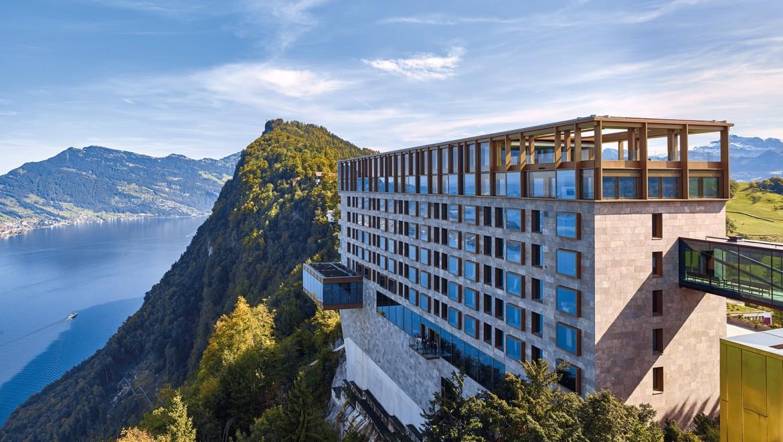 Hôtel Bürgenstock Suisse avec modèles de WCdouche AquaClean